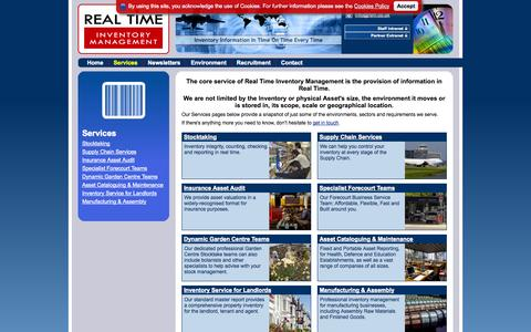 Screenshot of Services Page rtim.co.uk - Global Inventory & Physical Audit Services | Real Time Inventory Management - captured Oct. 7, 2014