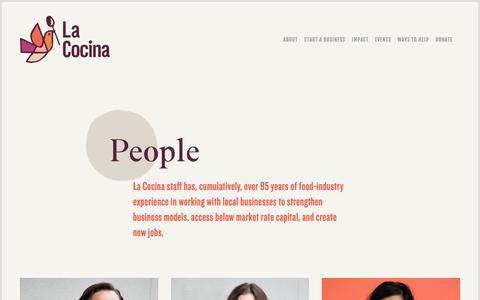 Screenshot of Team Page lacocinasf.org - People — La Cocina - captured Feb. 1, 2019