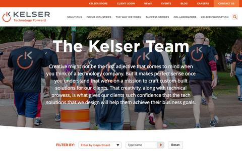 Screenshot of Team Page kelsercorp.com - IT Professional Consultants | IT Services | Kelser Corp - captured Feb. 11, 2016