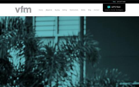 Screenshot of About Page vfmbuyersagents.com.au - VFM Property Advisors | Real Estate Experts Gold Coast - captured Sept. 30, 2014