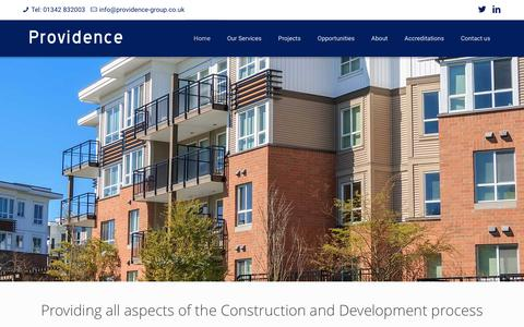 Screenshot of Home Page providence-group.co.uk - Providence Group Construction and Development - captured Feb. 2, 2016