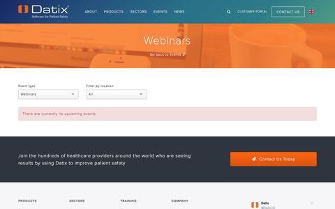Webinars   Datix