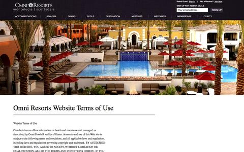 Screenshot of Terms Page montelucia.com - Montelucia Privacy Statement - Montelucia Resort & Spa - captured Sept. 19, 2014