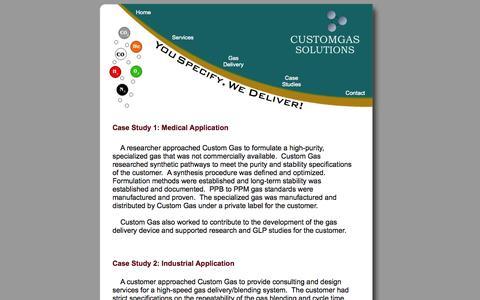 Screenshot of Case Studies Page customgas.com - Custom Gas Solutions - Case Studies - captured Oct. 3, 2014