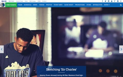 Screenshot of Home Page mavs.com - Home - Official Website of the Dallas Mavericks - captured Feb. 19, 2016