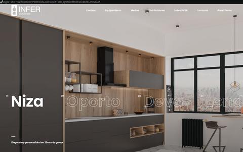Screenshot of Home Page infercocinas.es - Inicio - INFER Cocinas - captured July 5, 2019