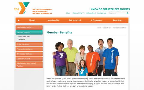 Screenshot of Signup Page dmymca.org - Member Benefits | YMCA Of Greater Des Moines - captured Dec. 16, 2018