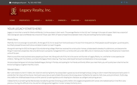 Screenshot of Signup Page legacyrlty.com - Legacy Realty, Inc. – Your Legacy Starts Here! - captured Nov. 5, 2016