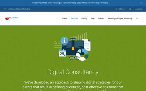 Screenshot of Services Page golden-way-media.com - Multilingual Digital Consultancy | Multilingual Digital Marketing 2016 - captured July 15, 2016