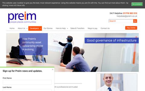 Screenshot of Developers Page preim.co.uk - Working with Property Developers | Managing Agent | Preim - captured July 9, 2017
