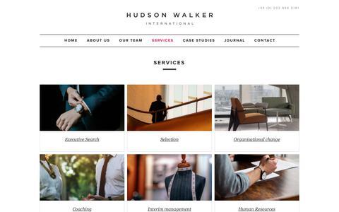 Screenshot of Services Page hudsonwalker.com - Hudson Walker | Luxury Retail Recruitment Agency London - captured Sept. 30, 2018