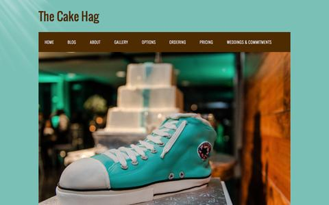 Screenshot of About Page cakehag.com - About - captured Oct. 26, 2014