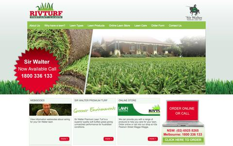 Screenshot of Home Page rivturf.com.au - Riv Turf - Quality Turf and Instant Lawn, Melbourne, Wagga Wagga | Home - captured Sept. 30, 2014