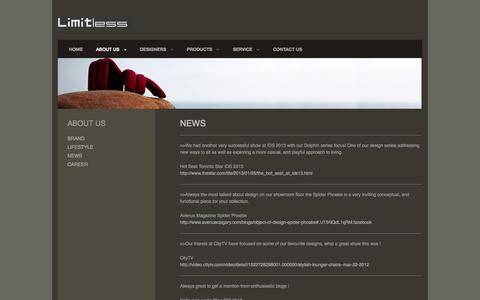 Screenshot of Press Page limitless-americas.com - News | Limitless Americas - captured Oct. 1, 2014
