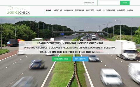 Screenshot of Home Page licencecheck.co.uk - Licence Check - Online Driving Licence Checking Service UK - captured May 18, 2017