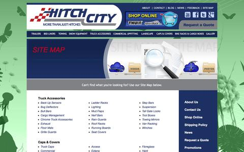 Screenshot of Site Map Page hitchcity.com - Hitch City  |  Site Map - captured July 20, 2018