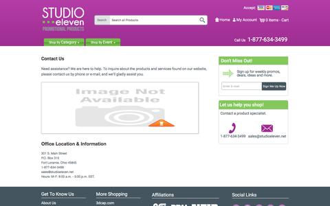 Screenshot of Contact Page studioeleven.net - Contact Us - Studio Eleven - captured Nov. 10, 2017
