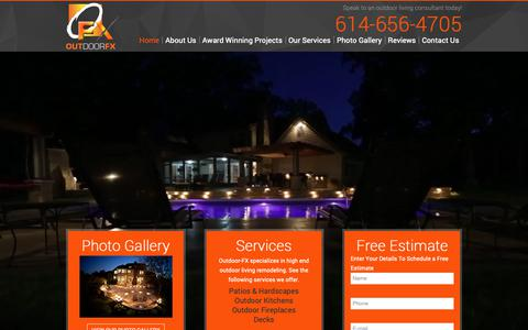 Screenshot of Home Page outdoor-fx.net - Transforming Ordinary into Extraordinary - Outdoor-FX - captured Oct. 18, 2018