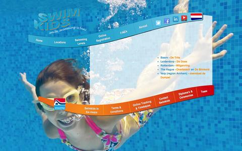 Screenshot of Locations Page swimkids.eu - SwimKids| Baarn|Arnhem|Amsterdam|Leiderdorp|Den-Haag|Scheveningen|Rotterdam - captured Oct. 9, 2014