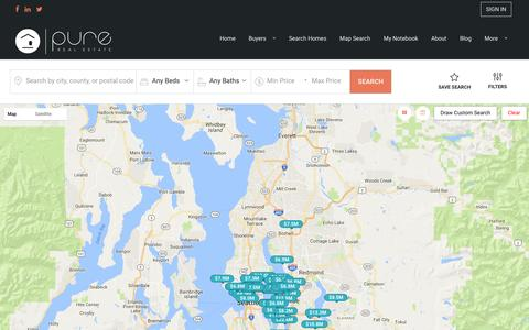 Screenshot of Maps & Directions Page purerealestate.com - Homes for Sale | Search Homes in Bellevue Area - captured May 22, 2017
