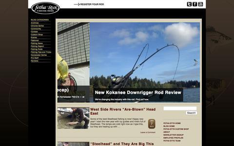Screenshot of Blog fethastyx.com - Fetha Styx Blog | Fetha Styx Fishing Rods - captured Sept. 8, 2015