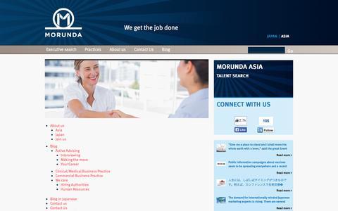 Screenshot of Site Map Page morunda.com - Morunda - Pharmaceutical Executive Search   Sitemap   Morunda - captured Oct. 9, 2014