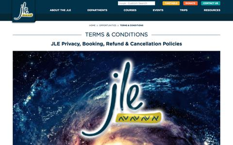 Screenshot of Terms Page jle.org.uk - JLE :: Terms & Conditions - captured Oct. 4, 2017