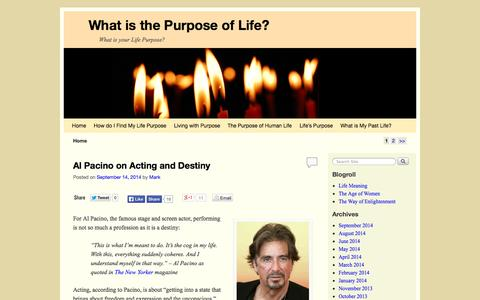 Screenshot of Home Page life-purpose.org - What is the Purpose of Life? - What is your Life Purpose? - captured Sept. 19, 2014