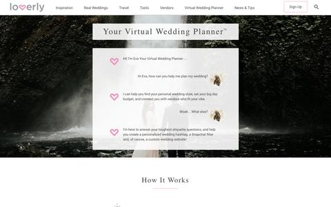 """Screenshot of Home Page lover.ly - Home - Loverly 