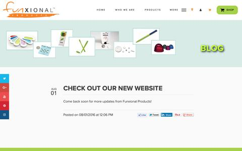 Screenshot of Blog funxionalproducts.com - Featured Innovative Products - MTM Corp. Funxional Products - captured Oct. 19, 2018