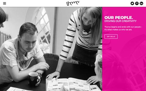 Screenshot of Team Page themegroup.co.uk - <title>Our People   Theme design agency, Reading - captured Feb. 28, 2016