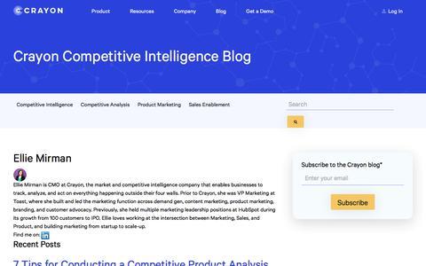 Screenshot of Blog crayon.co - Crayon Blog – Marketing Insights and Inspiration | Ellie Mirman - captured Feb. 10, 2020