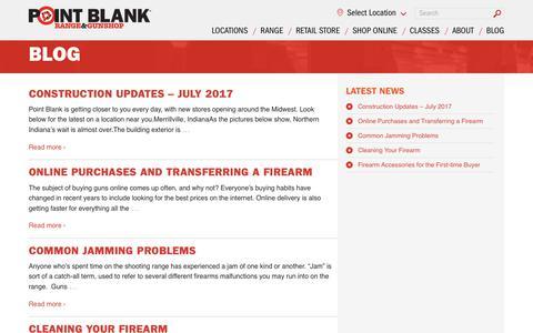 Screenshot of Blog shootpointblank.com - Blog | Point Blank Shooting Range & GunShop - captured Aug. 14, 2017