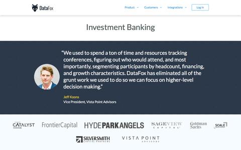 DataFox for Investment Banking