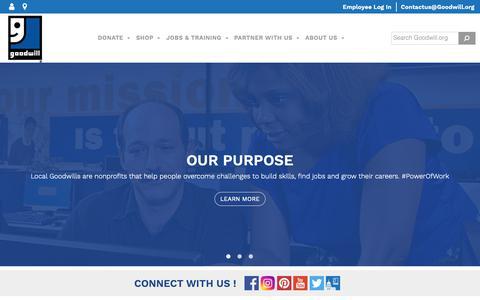 Screenshot of Home Page goodwill.org - Goodwill Industries International, Inc. - Goodwill Industries International - captured June 13, 2019