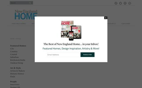 Screenshot of Site Map Page nehomemag.com - Sitemap - New England Home Magazine - captured Oct. 19, 2018