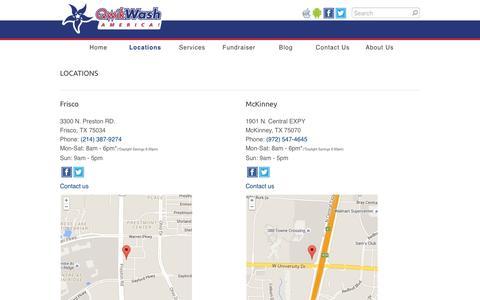 Screenshot of Locations Page qwikwash.com - Locations - QwikWash America! - captured Jan. 14, 2016