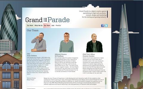 Screenshot of Team Page grandparade.co.uk - Our Team :: Grand Parade | High Tech Digital Marketeers - captured Sept. 30, 2014