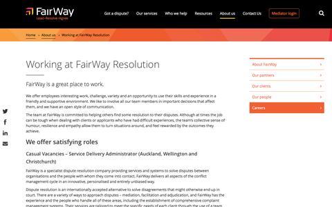 Screenshot of Jobs Page fairwayresolution.com - Working at FairWay Resolution | FairWay - captured Nov. 24, 2016