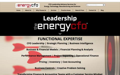 Screenshot of Team Page theenergycfo.com - Who We Are | Leadership | The Energy CFO® - captured Oct. 22, 2017