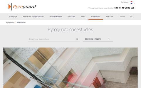 Screenshot of Case Studies Page pyroguard.eu - Casestudies | Pyroguard - captured May 24, 2016