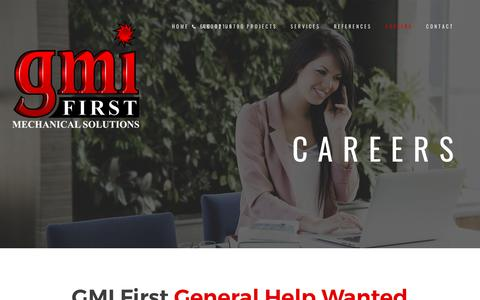Screenshot of Jobs Page gmifirst.com - Careers – GMI First - captured Sept. 26, 2018