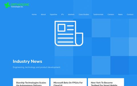 Screenshot of Press Page orthogone.ca - News - Orthogone Technologies Inc. - captured Oct. 19, 2018