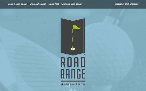 Screenshot of Home Page roadrangegolf.com - Road Range :: Columbus Golf Academy | Columbus, Ohio - captured Jan. 26, 2015