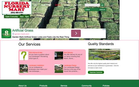 Screenshot of Services Page flnurserymart.com - Landscape Design, Landscape Installation & Delivery | South Florida - captured Oct. 6, 2014