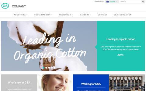 Screenshot of c-and-a.com - Company - captured Oct. 3, 2015