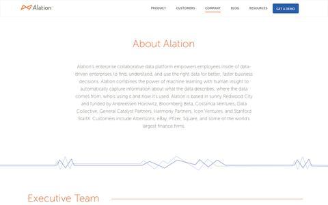 About Alation - Alation