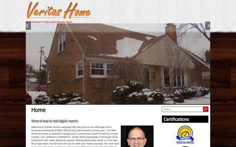 Screenshot of Home Page veritas-home.com - Veritas Home - captured Feb. 24, 2016