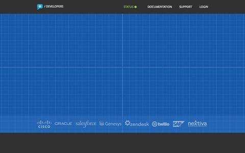 Screenshot of Developers Page nextcaller.com - Next Caller Developers - captured Nov. 18, 2015