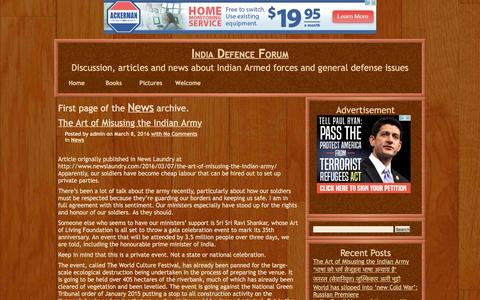 Screenshot of Press Page defenceforum.in - News – India Defence Forum - captured May 21, 2016